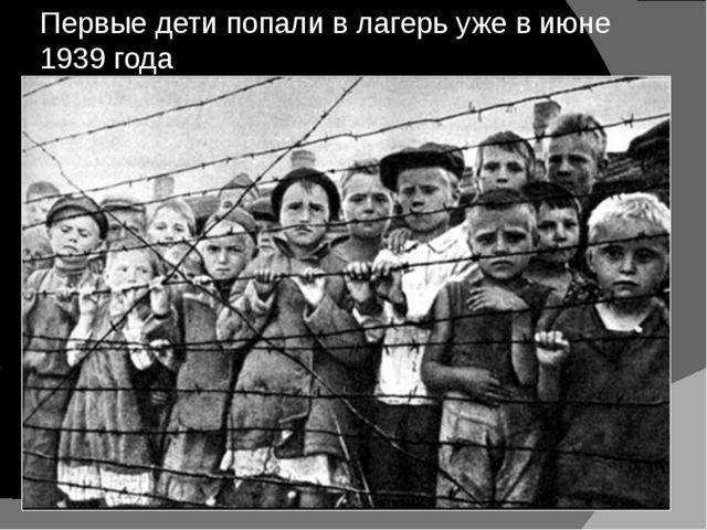 Первые дети попали в лагерь уже в июне 1939 года