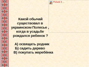 Какой обычай существовал в украинском Полесье , когда в усадьбе рождался ребе