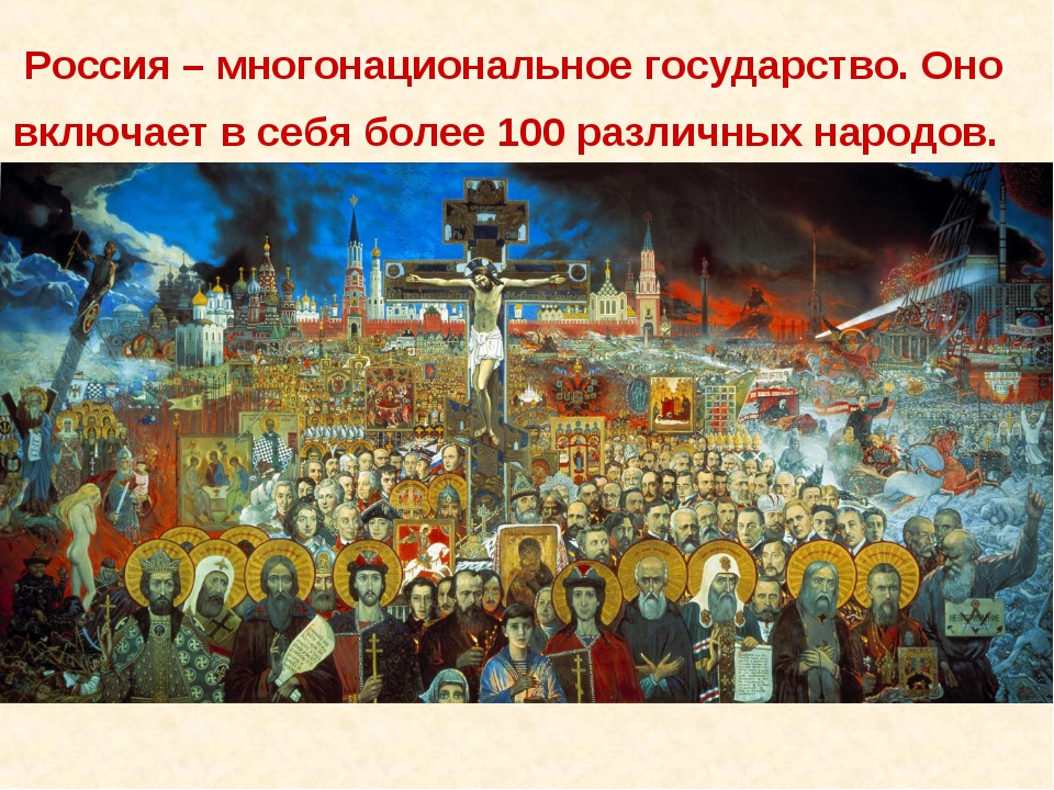 Россия – многонациональное государство. Оно включает в себя более 100 различн...