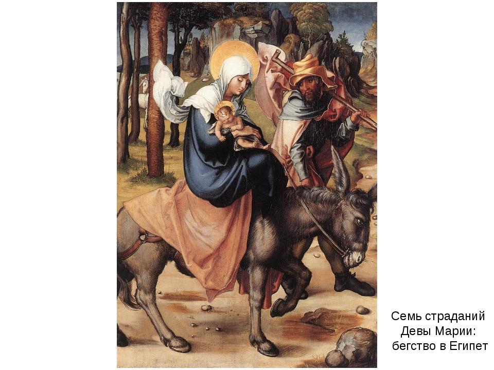 Семь страданий Девы Марии: бегство в Египет