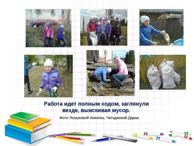 Работа идет полным ходом, заглянули везде, выискивая мусор. Фото Лешуковой Ан...