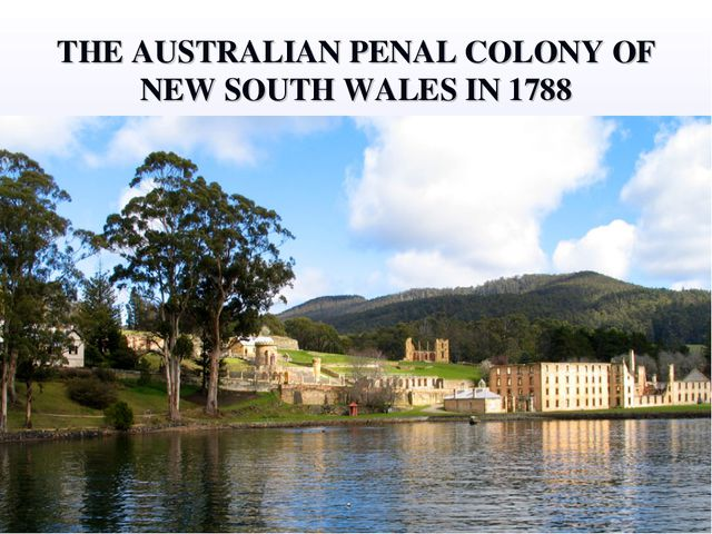 THE AUSTRALIAN PENAL COLONY OF NEW SOUTH WALES IN 1788