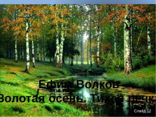 Ефим Волков «Золотая осень. Тихая речка» Слайд 12