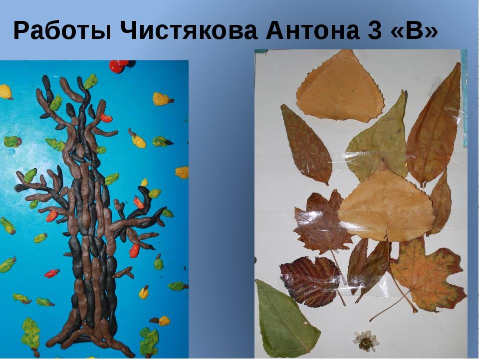 Работы Чистякова Антона 3 «В»