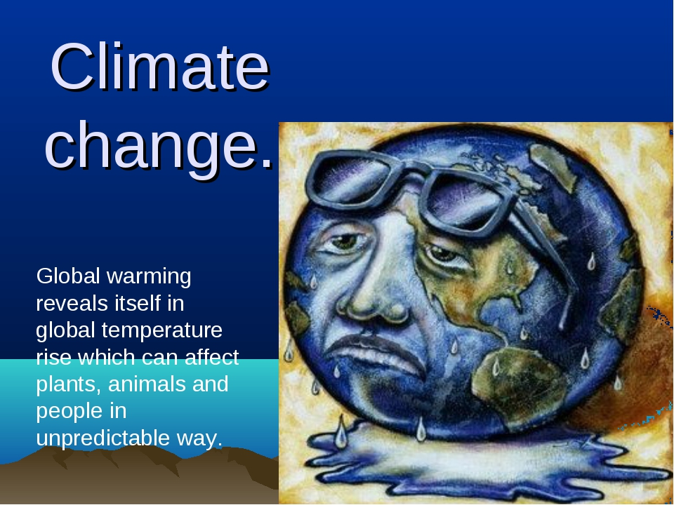 Climate change. Global warming reveals itself in global temperature rise whic...
