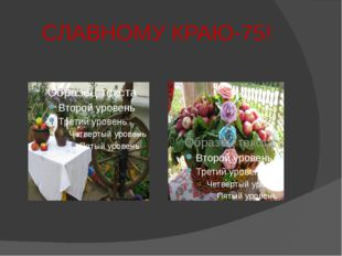 СЛАВНОМУ КРАЮ-75!