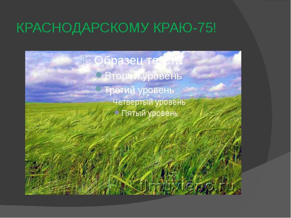 КРАСНОДАРСКОМУ КРАЮ-75!