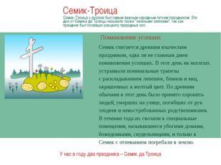 Березовые ветки В центре праздника у русских была береза, они верили, что эт