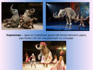 Корниловы – одна из старейших династий отечественного цирка, уже более 130 ле