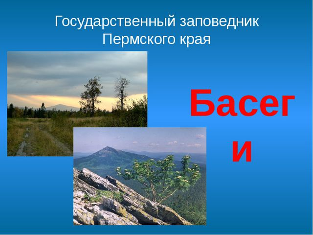 Государственный заповедник Пермского края Басеги