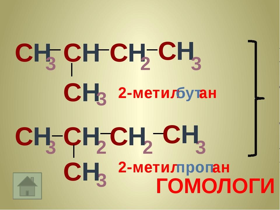 СН 3 СН СН СН 3 2 3 3 2 2 СН СН СН СН ГОМОЛОГИ СН 3 3 СН 2-метил бут ан 2-мет...
