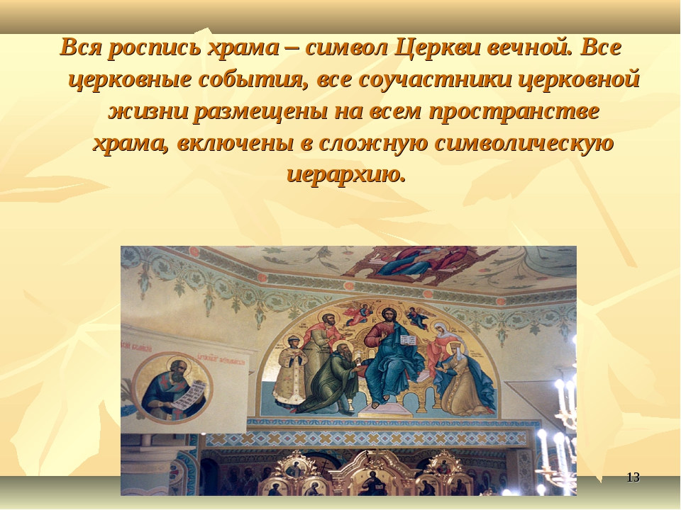 * Вся роспись храма – символ Церкви вечной. Все церковные события, все соучас...