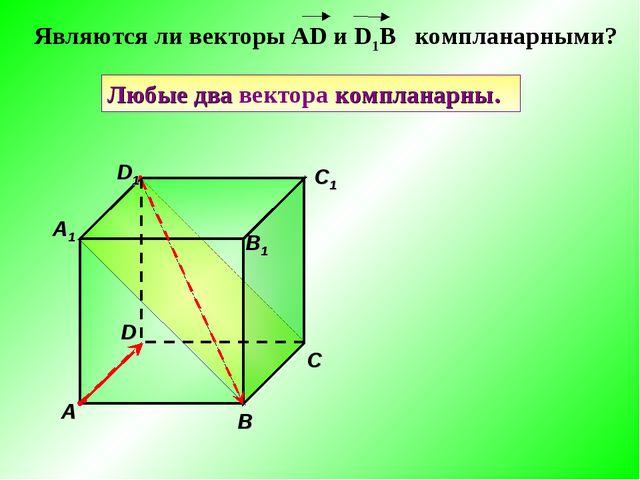 Геометрия класс Тема Компланарные векторы a b c a1 b1 c1 d1 d Любые два вектора компланарны