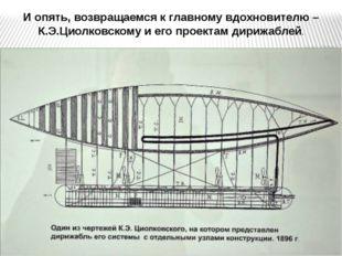 И опять, возвращаемся к главному вдохновителю – К.Э.Циолковскому и его проект