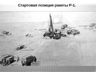 Стартовая позиция ракеты Р-1.