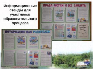 Информационные стенды для участников образовательного процесса