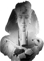Фараон Эхнатон. Скульптура из храма Гематон в Карнаке