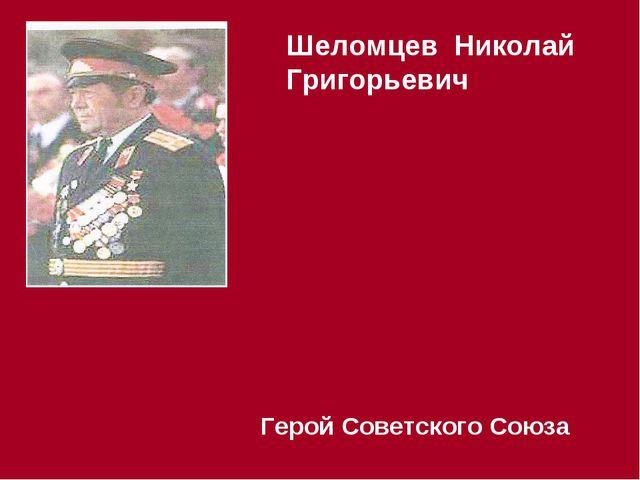 Шеломцев Николай Григорьевич Герой Советского Союза