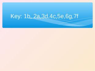 Key: 1b, 2a,3d.4c,5e,6g,7f