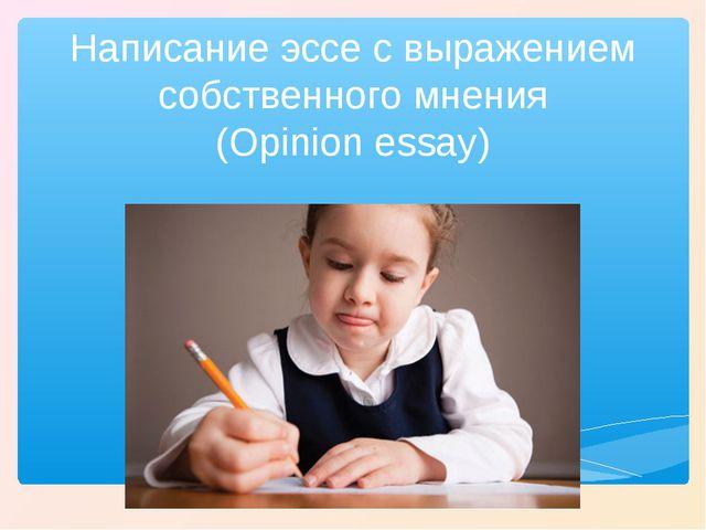 Написание эссе с выражением собственного мнения (Opinion essay)
