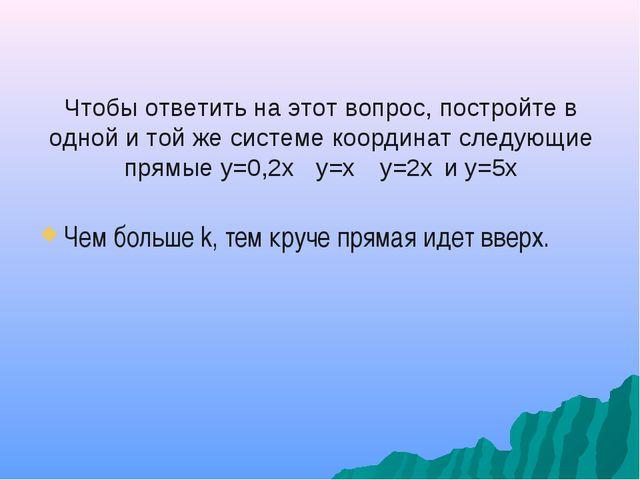 Чтобы ответить на этот вопрос, постройте в одной и той же системе координат с...