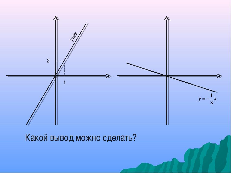 2 1 у=2х Какой вывод можно сделать?