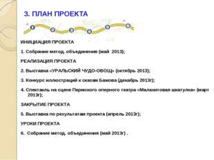 3. ПЛАН ПРОЕКТА ИНИЦИАЦИЯ ПРОЕКТА 1. Собрание метод. объединения (май 2013);