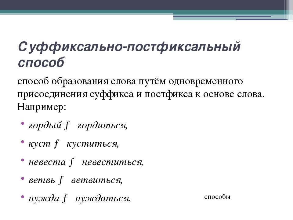 Аббревиация способ образования производных слов (существительных) путём сложе...