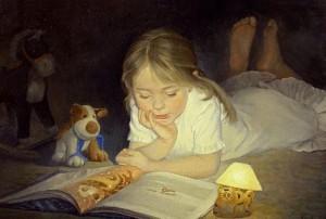 Чтение детям сказок перед сном