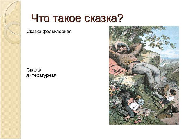 Что такое сказка? Сказка фольклорная Сказка литературная