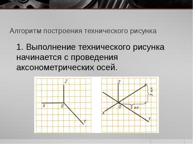 Алгоритм построения технического рисунка 1. Выполнение технического рисунка н...