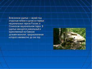 Волконское ущелье — музей под открытым небом в одном из первых национальных