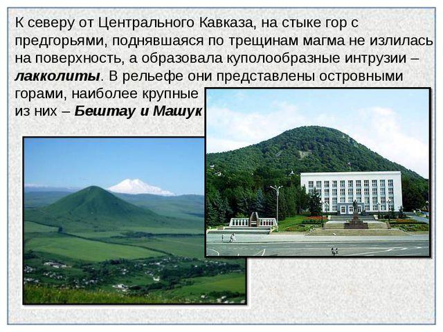 К северу от Центрального Кавказа, на стыке гор с предгорьями, поднявшаяся по...