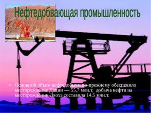 Основной объем нефтедобычи по-прежнему обеспечило месторождение Дацин — 55,7