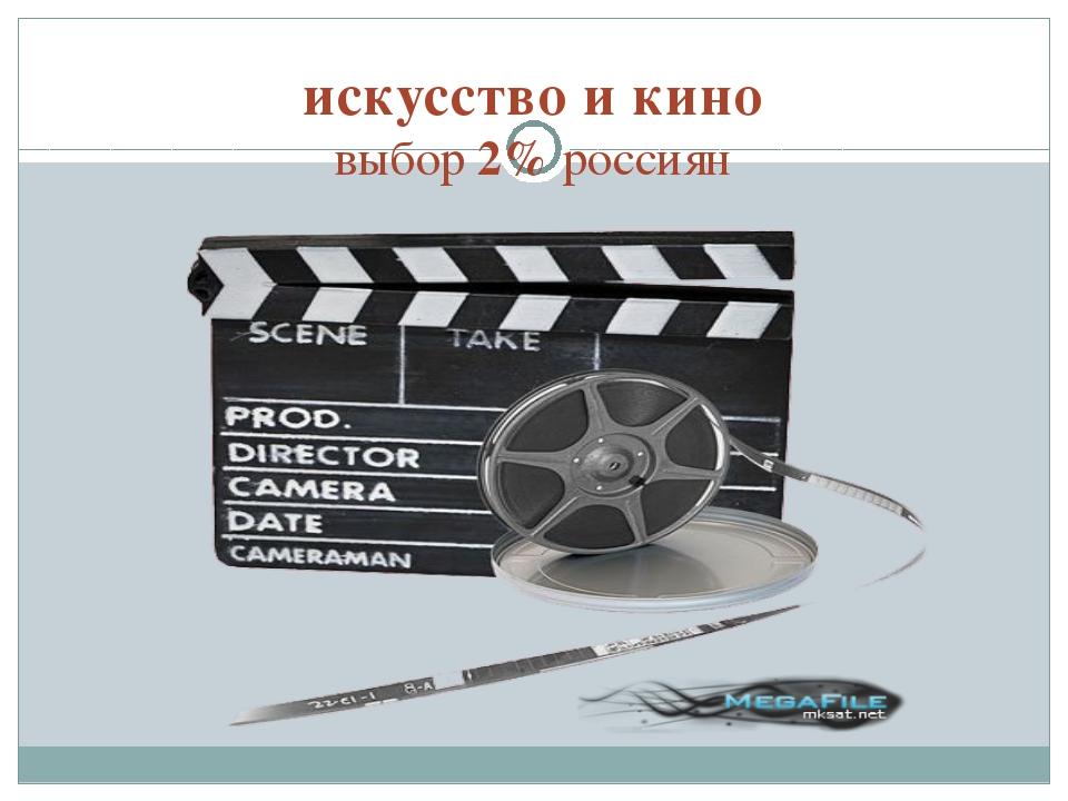 искусство и кино выбор 2% россиян
