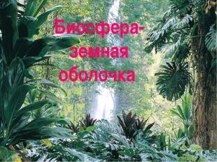 Биосфера-земная оболочка