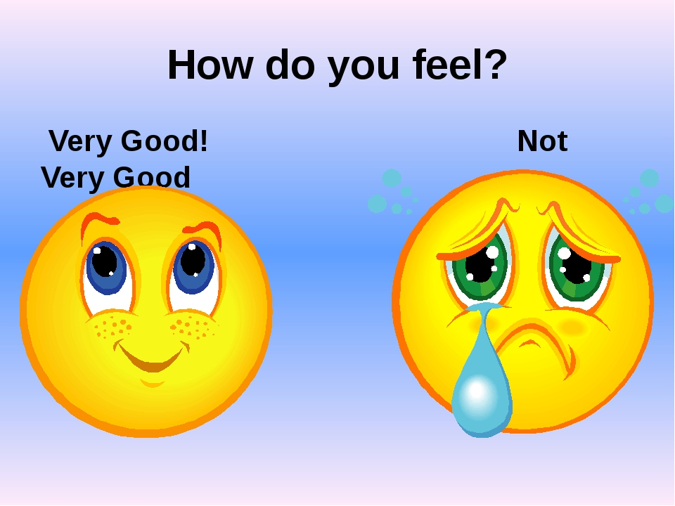 How do you feel? Very Good! Not Very Good