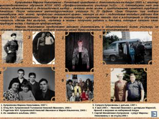 1 3 2 4 5 7 6 1. Куприянова Марина Николаевна, 2007 г.  5. Супруги Куприян