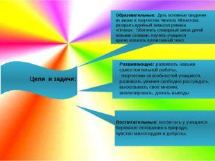 Цели и задачи: Образовательные: Дать основные сведения из жизни и творчеств