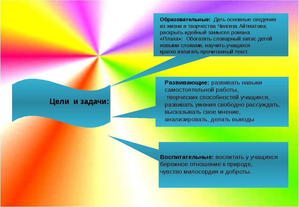 Цели и задачи: Образовательные: Дать основные сведения из жизни и творчеств...
