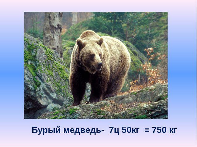 Бурый медведь- 7ц 50кг = 750 кг