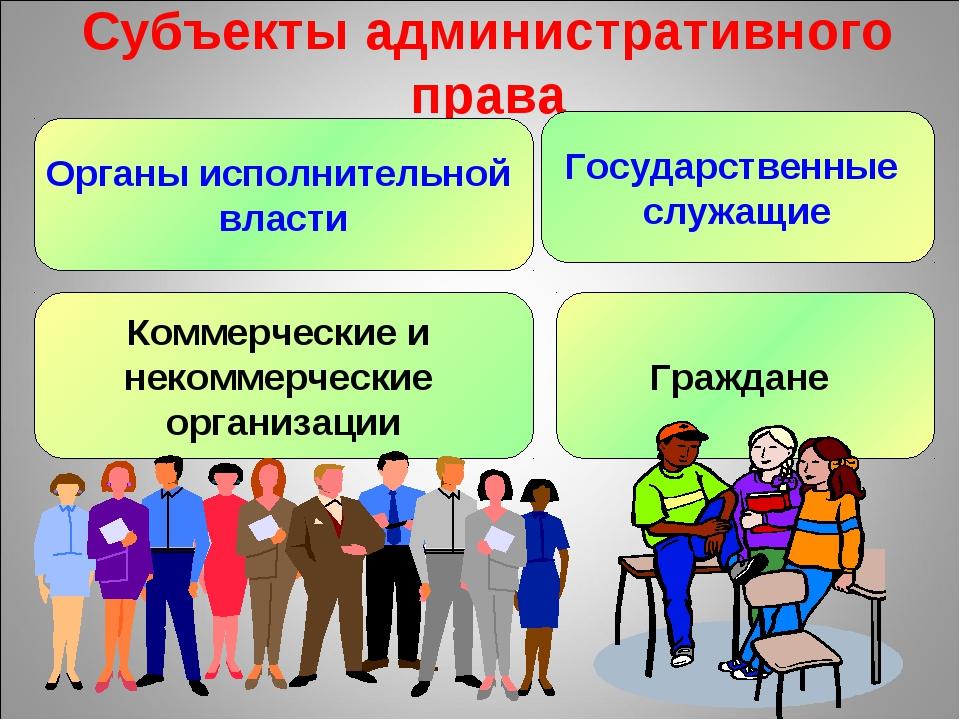 Субъекты административного права Органы исполнительной власти Государственные...