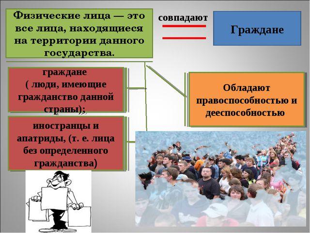Физические лица — это все лица, находящиеся на территории данного государства...