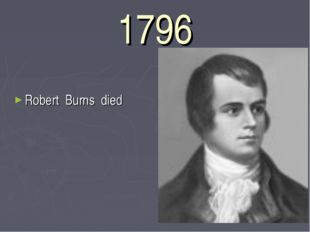 1796 Robert Burns died