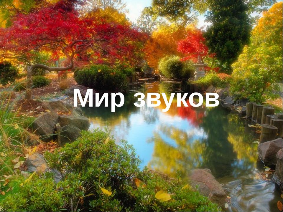 Мир звуков Мир полон запахов,красок,звуков.Удивителен мир звуков нас окружаю...