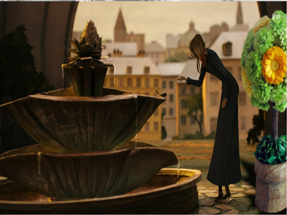Бумажный фонтан издавал тихие чарующие звуки…