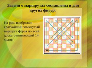 Задачи о маршрутах составлены и для других фигур. На рис. изображен кратчайш