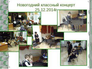 Новогодний классный концерт 25.12.2014г