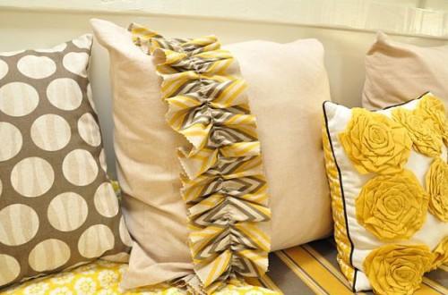Декоративные диванные подушки своими руками