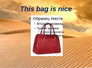 This bag is nice